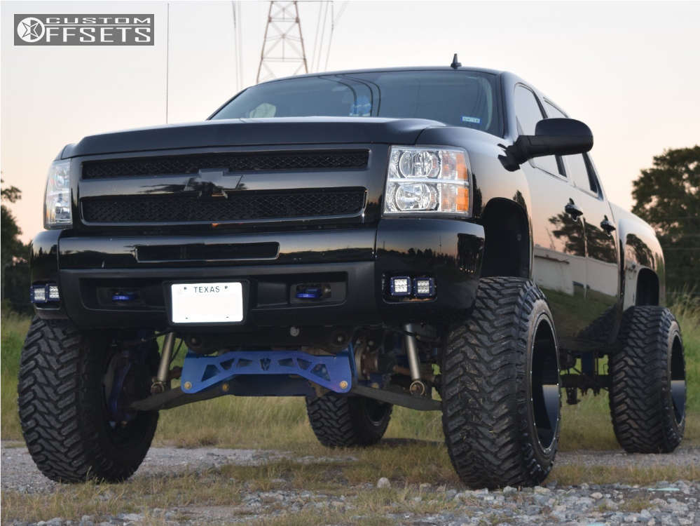 "2011 Chevrolet Silverado 1500 Super Aggressive 3""-5"" on 22x14 -76 offset Scorpion Sc19 & 37""x13.5"" Atturo Trail Blade Mt on Suspension Lift 9"" - Custom Offsets Gallery"