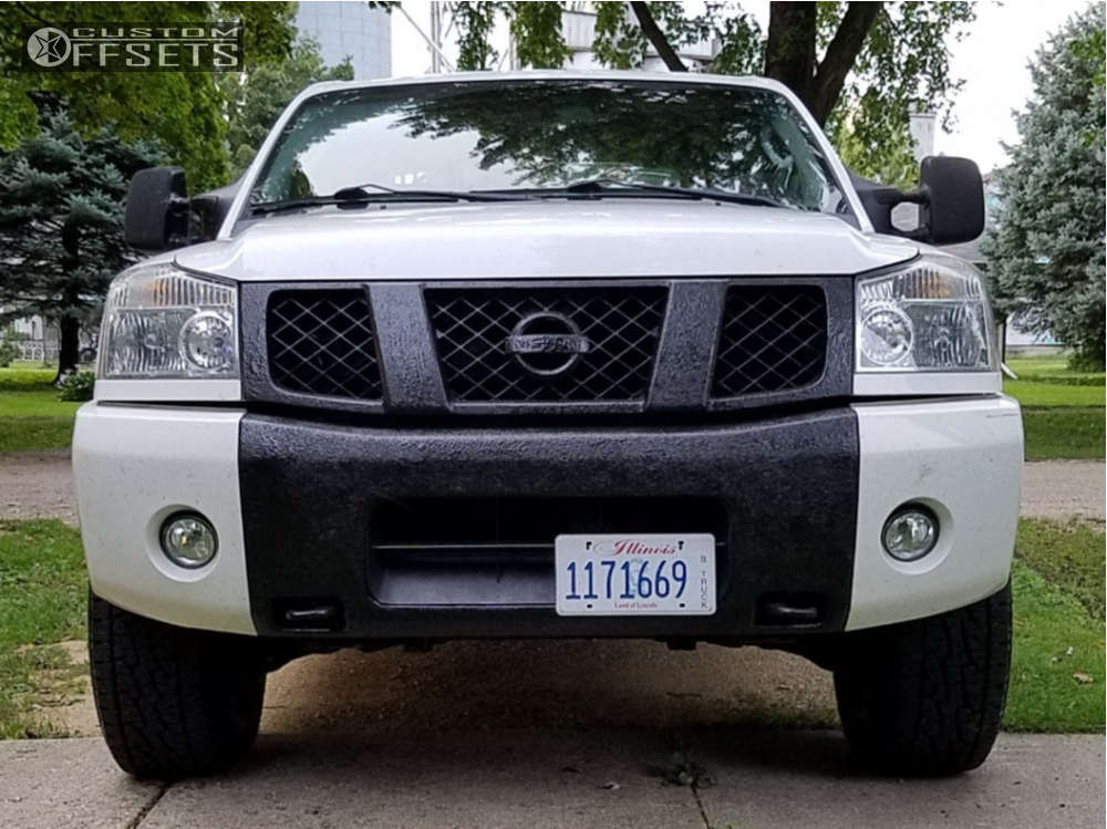 """2007 Nissan Titan Slightly Aggressive on 17x8 0 offset Pro Comp Series 89 and 285/70 Nexen Roadian At Pro Ra8 on Suspension Lift 3"""" - Custom Offsets Gallery"""