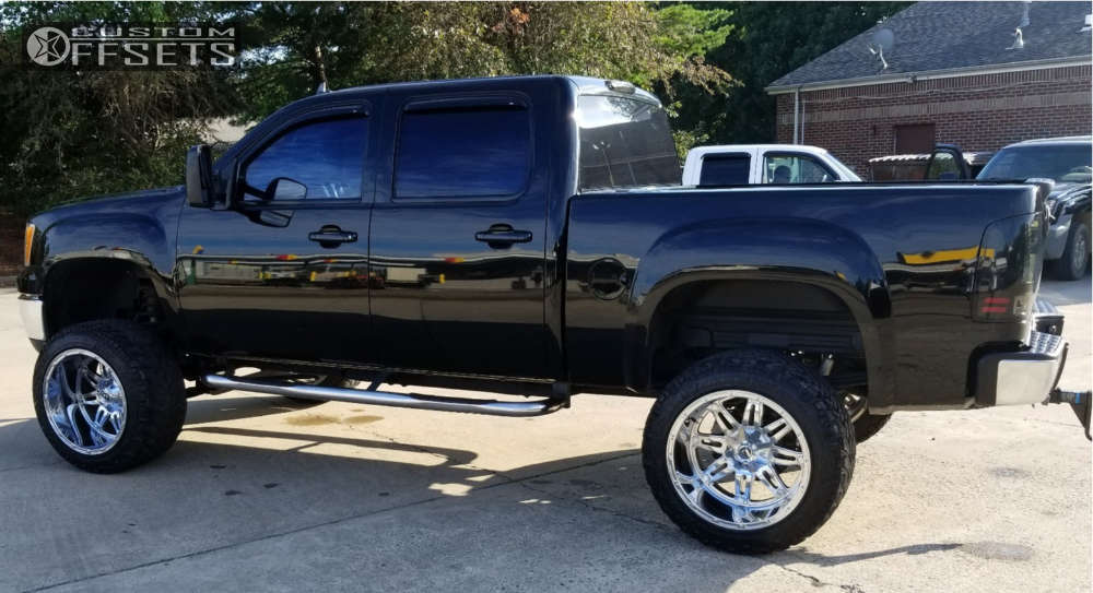 """2012 GMC Sierra 1500 HD Super Aggressive 3""""-5"""" on 22x14 -76 offset Fuel Hostage & 35""""x50"""" Nitto Trail Grappler on Suspension Lift 7"""" - Custom Offsets Gallery"""