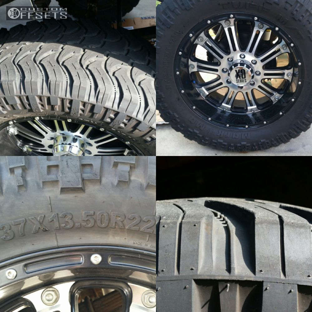 """1979 Dodge W200 Nearly Flush on 22x9.5 0 offset XD XD795 and 37""""x13.5"""" Tuff MT on Suspension Lift 7.5"""" - Custom Offsets Gallery"""