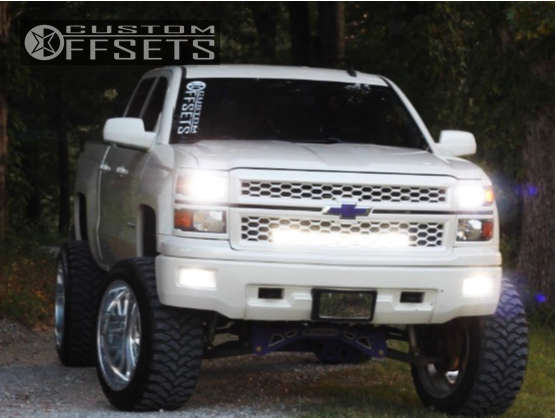 "2014 Chevrolet Silverado 1500 Super Aggressive 3""-5"" on 24x14 -73 offset American Force Blade Ss & 37""x14"" Rbp Repulsor Mt on Suspension Lift 8"" - Custom Offsets Gallery"