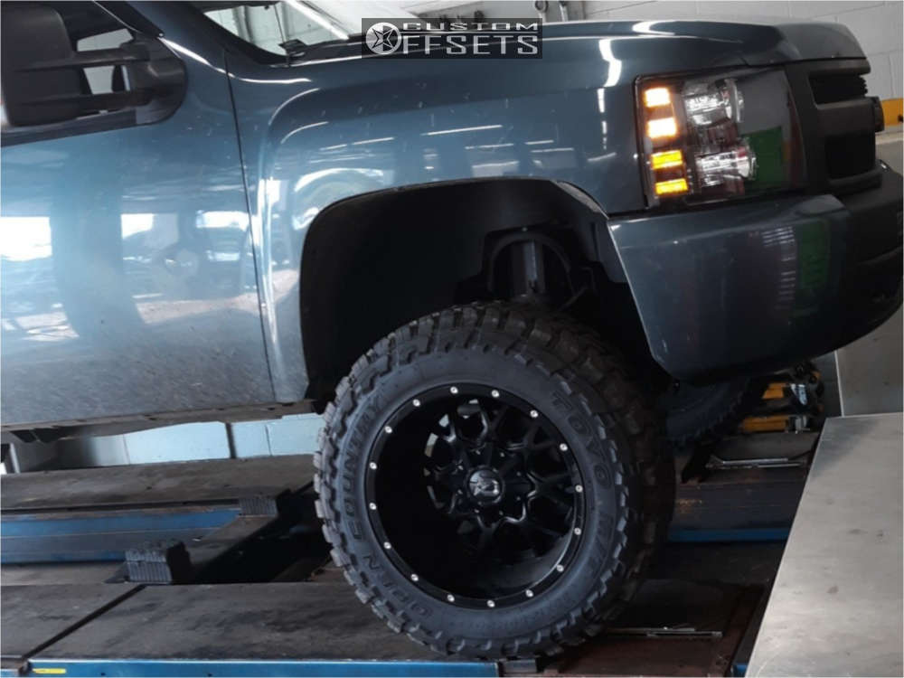 """2010 Chevrolet Silverado 1500 Super Aggressive 3""""-5"""" on 20x12 -44 offset Dropstar 645b & 35""""x12.5"""" Toyo Tires Open Country M/T on Suspension Lift 7.5"""" - Custom Offsets Gallery"""