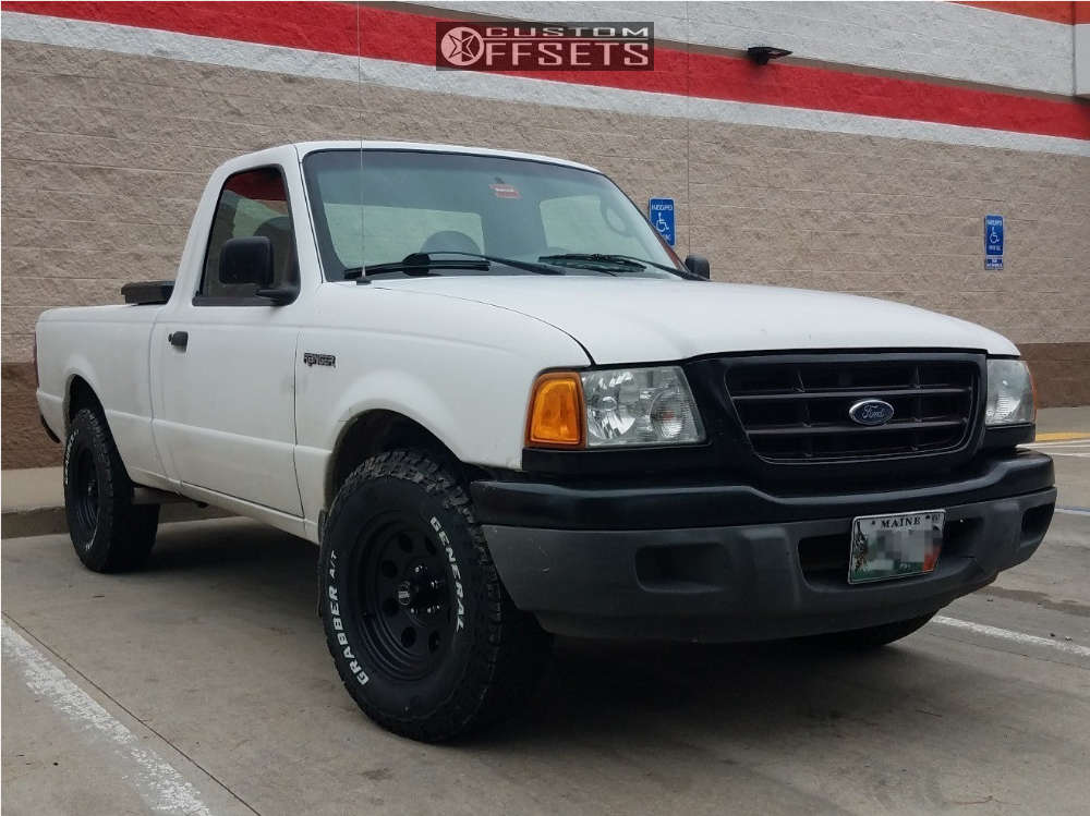 2003 Ford Ranger HellaFlush on 15x7 -6 offset American Racing Baja and 235/75 General Grabber Atx on Stock Suspension - Custom Offsets Gallery