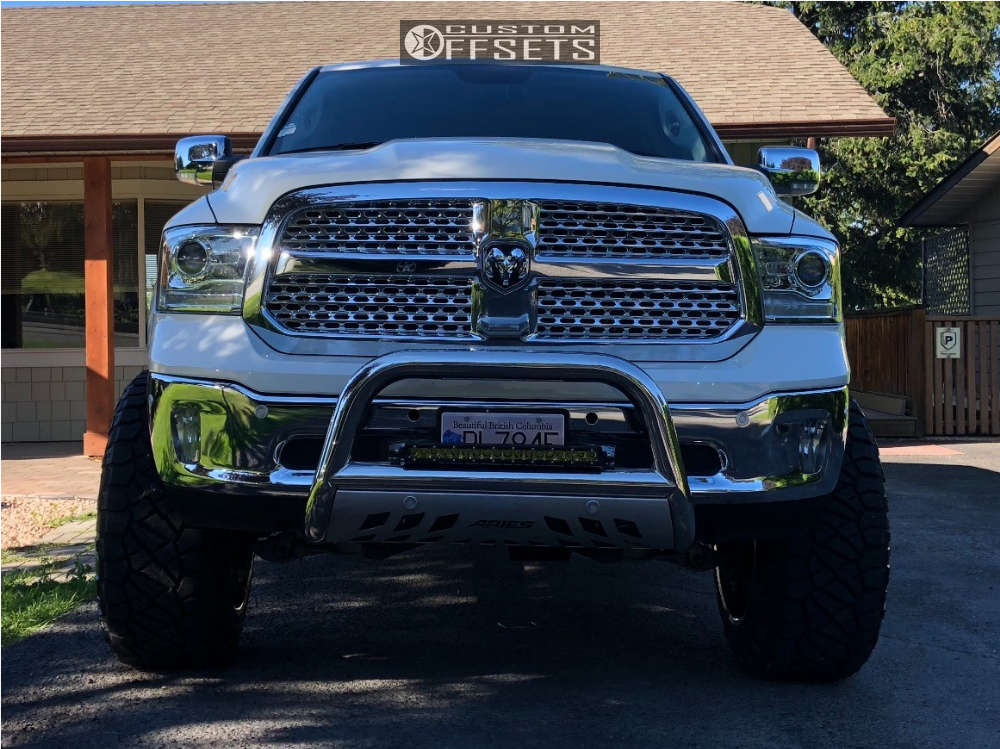 """2017 Ram 1500 Super Aggressive 3""""-5"""" on 22x14 -76 offset TIS 544v and 37""""x13.5"""" Nitto Ridge Grappler on Suspension Lift 9.5"""" - Custom Offsets Gallery"""