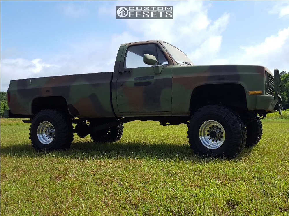 """1984 Chevrolet K30 Super Aggressive 3""""-5"""" on 16x10 -25 offset American Racing Outlaw Ii and 38""""x12.5"""" Super Swamper Tsl Sx on Suspension Lift 6"""" - Custom Offsets Gallery"""