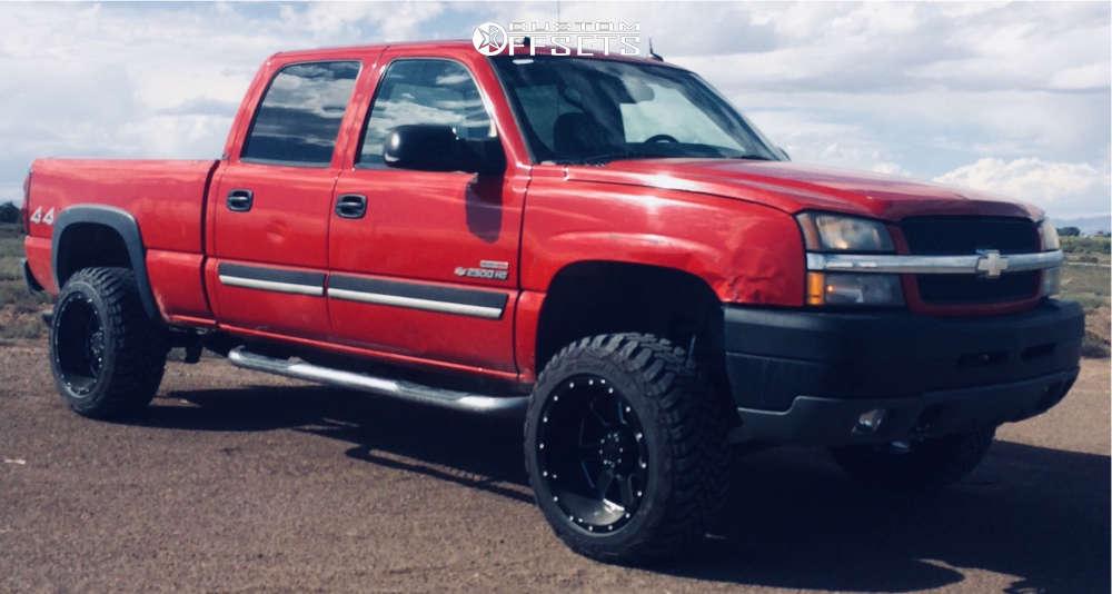 "2004 Chevrolet Silverado 2500 HD Super Aggressive 3""-5"" on 20x12 -44 offset Gear Off-Road 726mb & 33""x12.5"" Accelera Alpha on Suspension Lift 3"" - Custom Offsets Gallery"