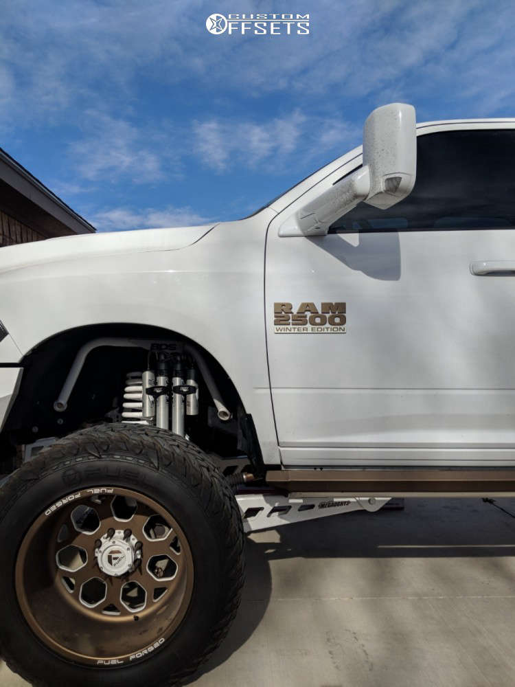"""2016 Ram 2500 Super Aggressive 3""""-5"""" on 22x14 -76 offset Fuel Forged Ff14 & 38""""x15.5"""" Fuel Mud Gripper on Suspension Lift 8"""" - Custom Offsets Gallery"""