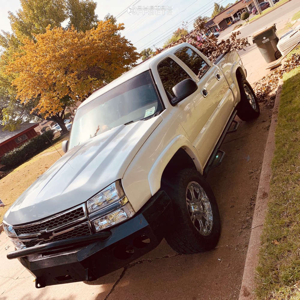 """2006 Chevrolet Silverado 1500 Aggressive > 1"""" outside fender on 20x9 10 offset Gear Off-Road Recoil & 305/55 Toyo Tires Open Country A/t Ii on Body Lift 3"""" - Custom Offsets Gallery"""