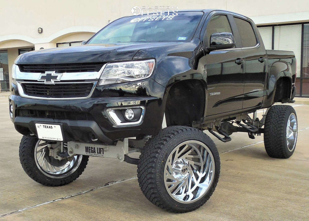 """2016 Chevrolet Colorado Super Aggressive 3""""-5"""" on 22x12 -44 offset Red Dirt Road Twister & 305/45 Atturo Trail Blade Xt on Lifted >12"""" - Custom Offsets Gallery"""