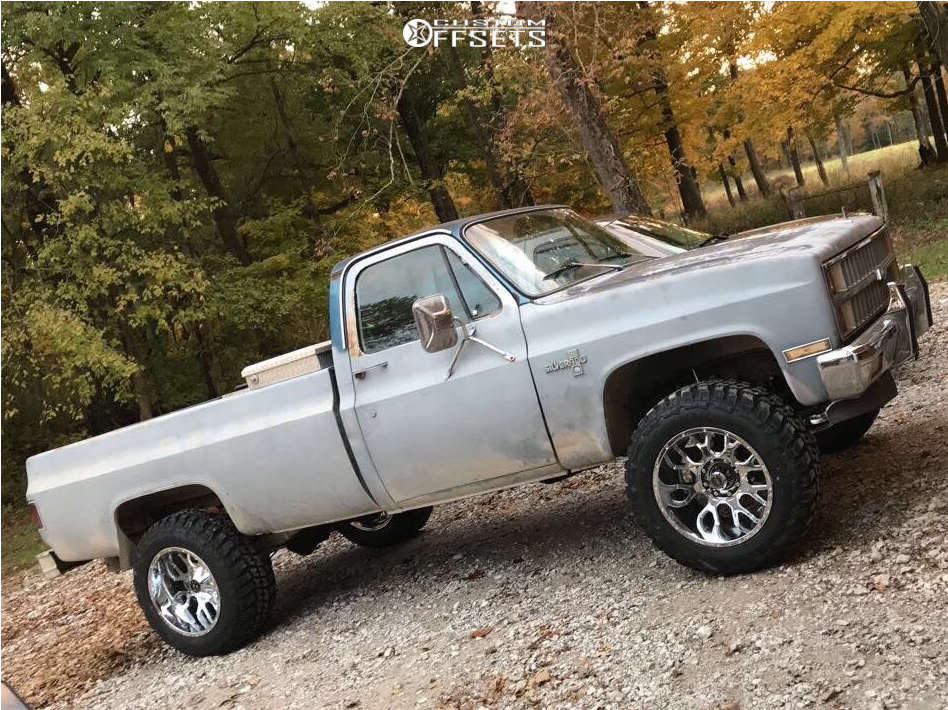 """1981 Chevrolet K20 Aggressive > 1"""" outside fender on 20x12 -44 offset Scorpion Sc19 & 35""""x12.5"""" Federal Couragia Mt on Suspension Lift 3"""" - Custom Offsets Gallery"""