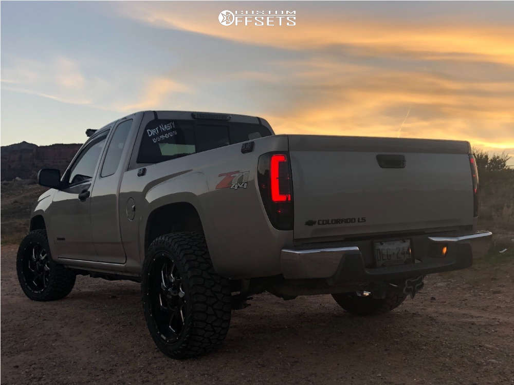 """2005 Chevrolet Colorado Aggressive > 1"""" outside fender on 20x10 -25 offset Ultra Carnage & 265/50 AMP Terrain Gripper At G on Stock Suspension - Custom Offsets Gallery"""