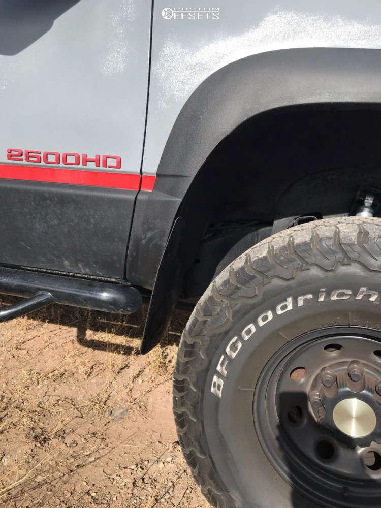 "1998 Chevrolet K2500 Suburban Slightly Aggressive on 16x8 -6 offset Black Rock Type 8 & 315/75 BFGoodrich All Terrain Ta Ko2 on Suspension Lift 4"" - Custom Offsets Gallery"