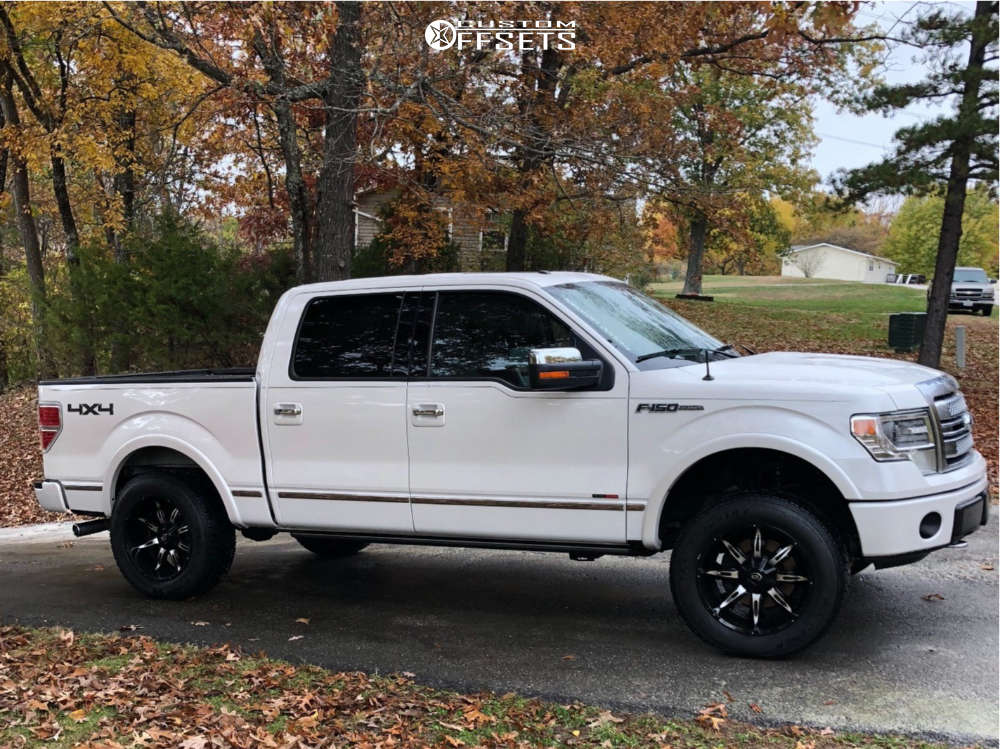 """2014 Ford F-150 Super Aggressive 3""""-5"""" on 20x10 -25 offset Vision Manic & 275/60 Dick Cepek Trail Country on Leveling Kit - Custom Offsets Gallery"""