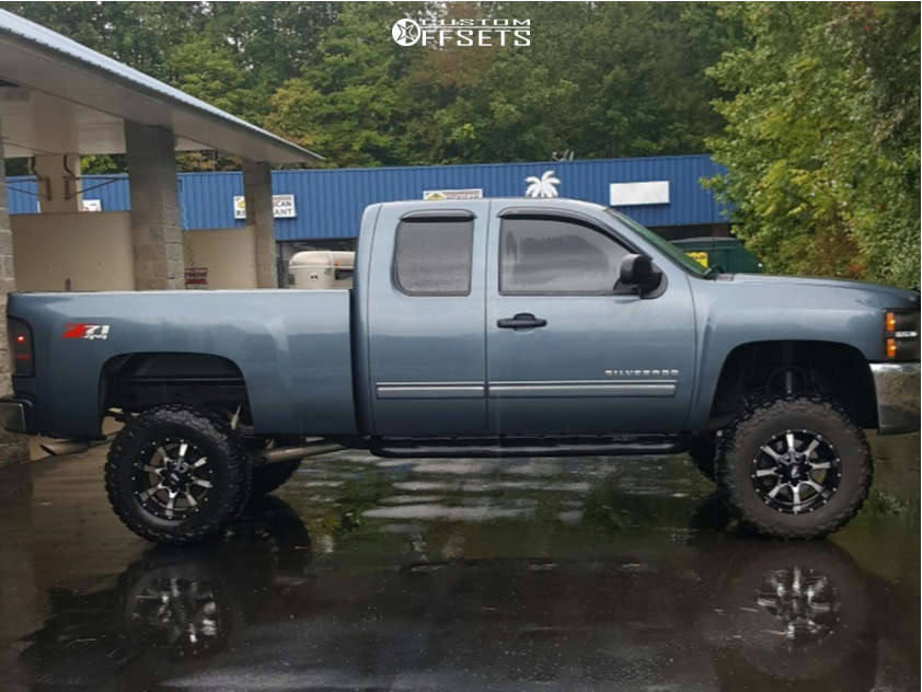"""2013 Chevrolet Silverado 1500 Super Aggressive 3""""-5"""" on 18x10 -24 offset Moto Metal Mo970 and 35""""x12.5"""" Federal Couragia Mt on Suspension Lift 7.5"""" - Custom Offsets Gallery"""