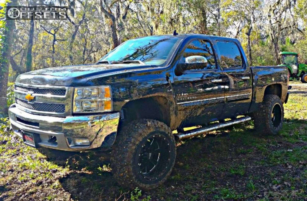 """2012 Chevrolet Silverado 1500 Super Aggressive 3""""-5"""" on 20x12 -44 offset Moto Metal Mo962 & 35""""x12.5"""" Toyo Tires Open Country M/T on Suspension Lift 6"""" - Custom Offsets Gallery"""