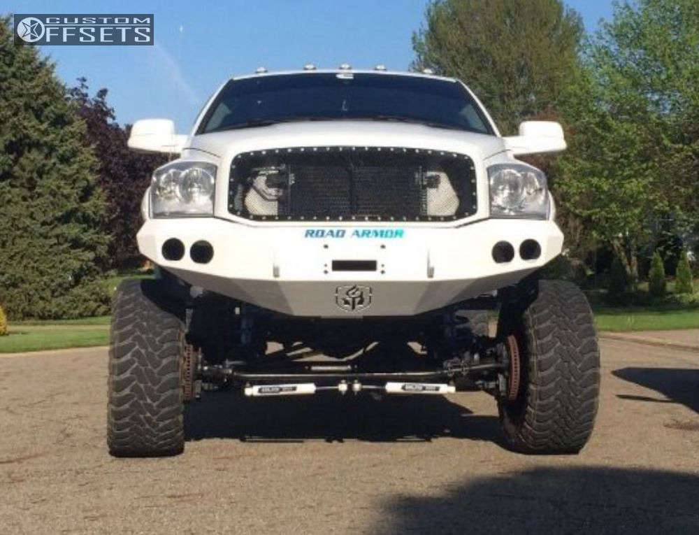 """2009 Ram 2500 Hella Stance >5"""" on 20x12 -44 offset Fuel Krank & 37""""x13.5"""" Toyo Tires Open Country M/T on Suspension Lift 8"""" - Custom Offsets Gallery"""