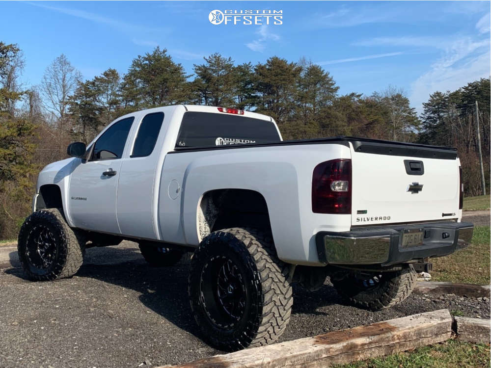 """2010 Chevrolet Silverado 1500 Super Aggressive 3""""-5"""" on 20x12 -44 offset Tis 544bm & 38""""x15.5"""" Toyo Tires Open Country M/T on Suspension Lift 10"""" - Custom Offsets Gallery"""