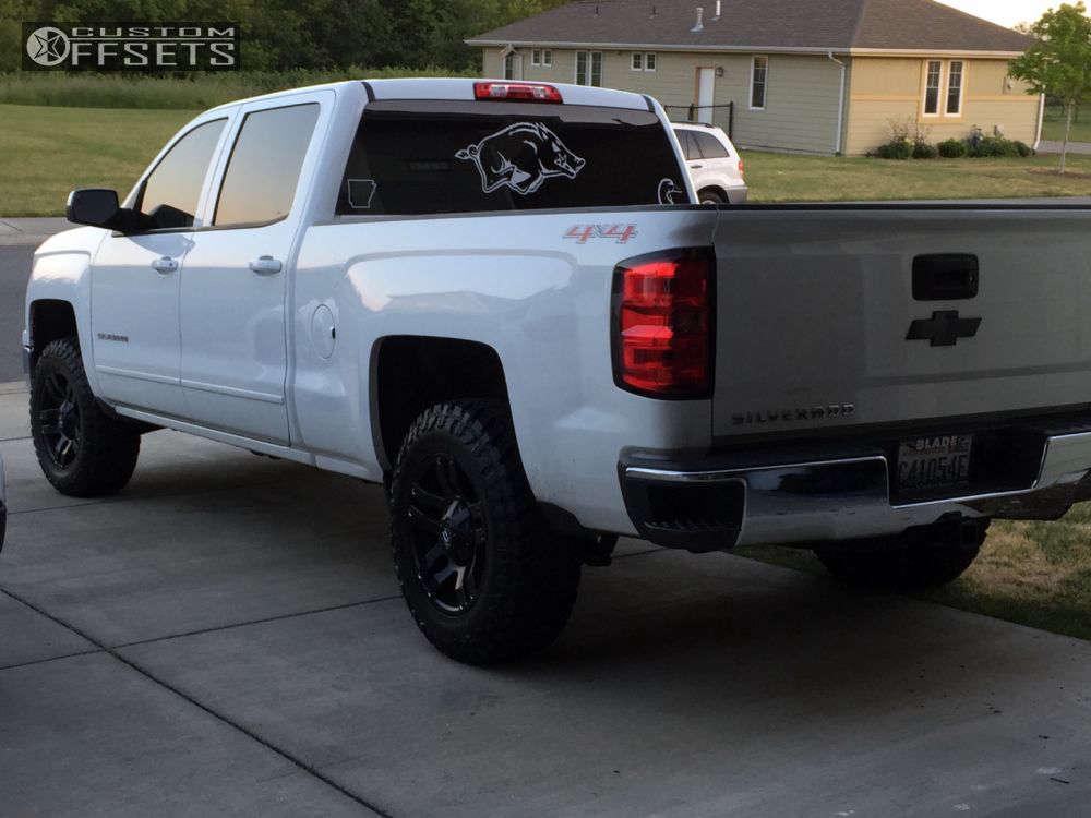 2015 Chevrolet Silverado 1500 Flush on 18x9 20 offset Fuel Pump & 275/65 Atturo Trail Blade MT on Leveling Kit - Custom Offsets Gallery