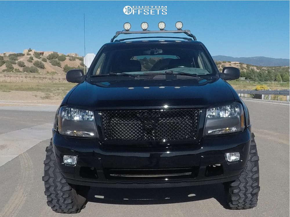 "2002 Chevrolet Trailblazer Super Aggressive 3""-5"" on 16x8 0 offset Pro Comp Series 52 & 36""x13.5"" Interco Tsl on Suspension Lift 9"" - Custom Offsets Gallery"