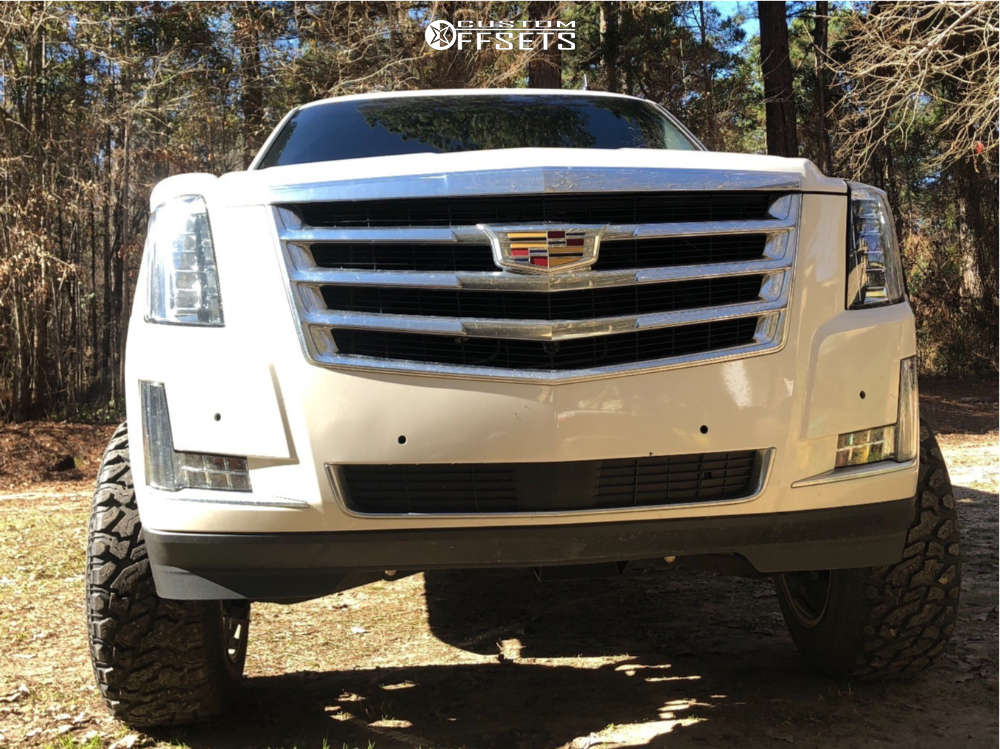 """2009 Cadillac Escalade EXT Super Aggressive 3""""-5"""" on 20x12 -44 offset American Truxx Bomb & 35""""x12.5"""" Versatyre M/t on Suspension Lift 7"""" - Custom Offsets Gallery"""