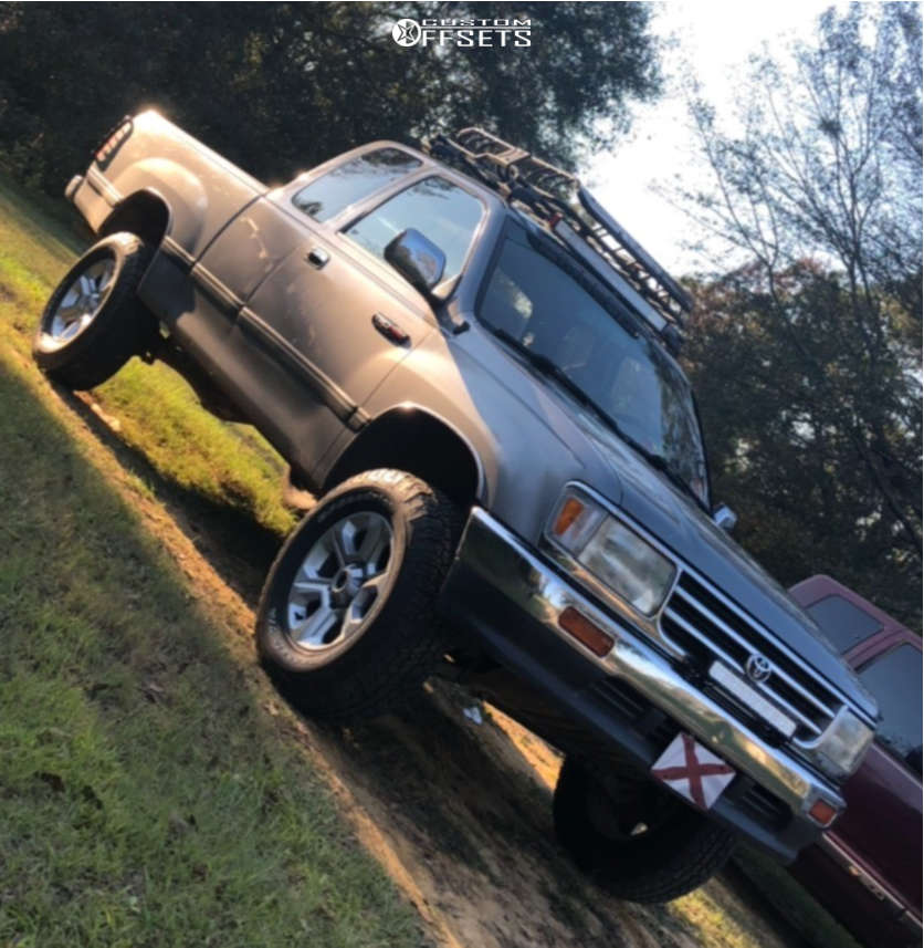 """1995 Toyota T100 Tucked on 17x7 0 offset Toyota Toyota and 32""""x7.5"""" BFGoodrich Rugged Terrain on Leveling Kit - Custom Offsets Gallery"""