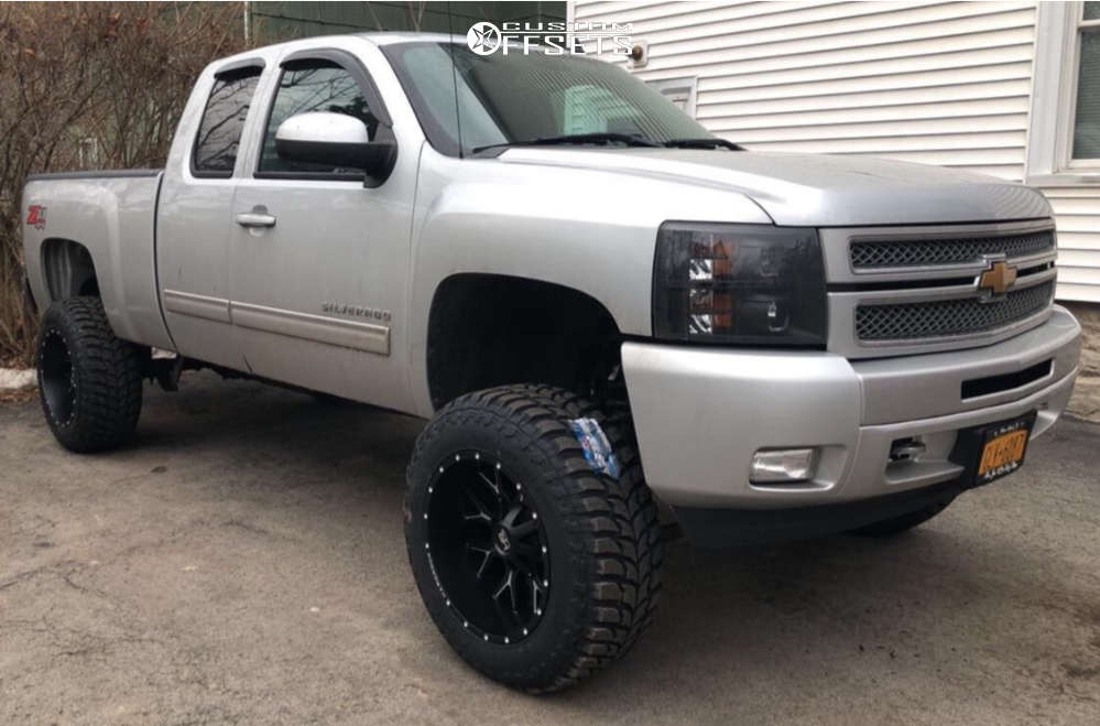 """2013 Chevrolet Silverado 1500 Super Aggressive 3""""-5"""" on 20x12 -44 offset Hardrock Affliction & 35""""x12.5"""" Road One Cavalry M/t on Suspension Lift 7.5"""" - Custom Offsets Gallery"""