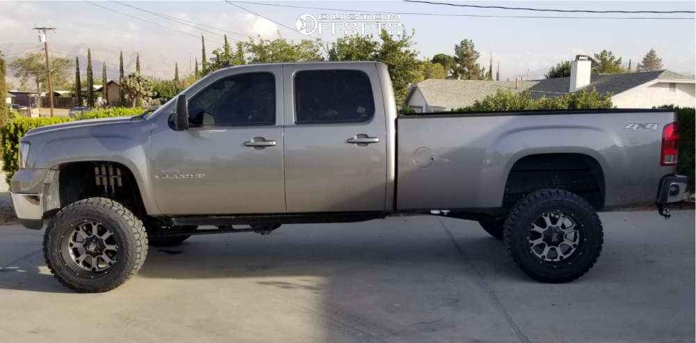 """2008 GMC Sierra 3500 HD Slightly Aggressive on 20x10 -24 offset XD Buck & 35""""x12.5"""" Toyo Tires Open Country R/T on Suspension Lift 4.5"""" - Custom Offsets Gallery"""
