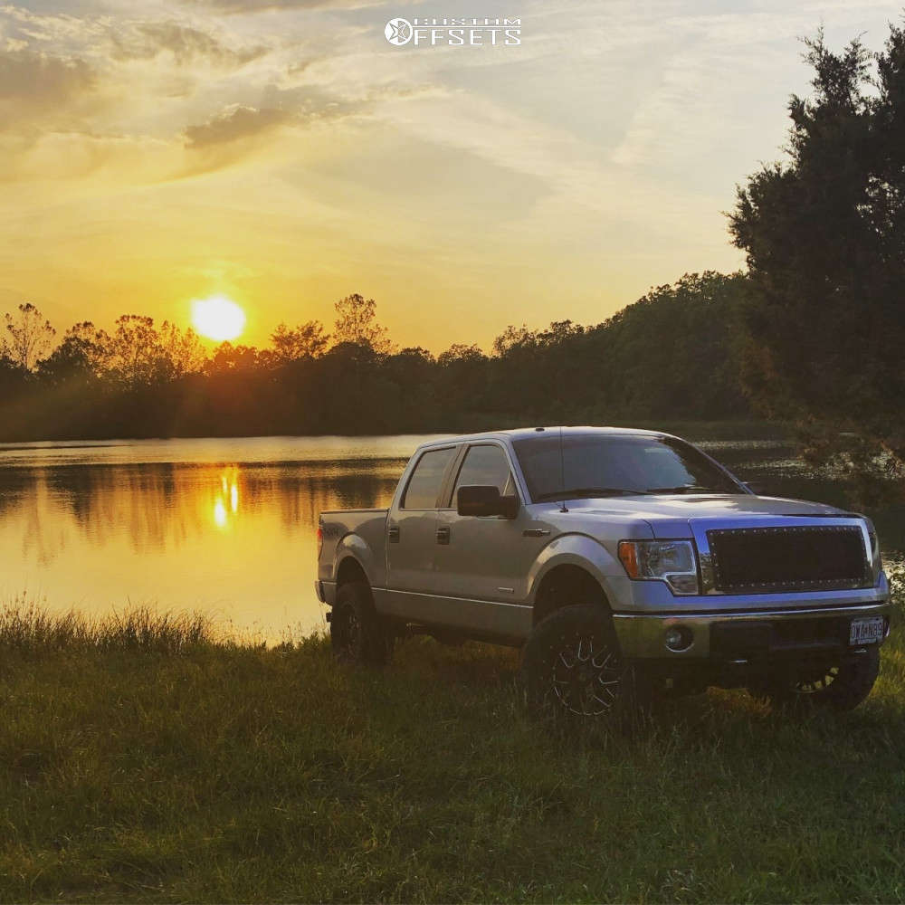 """2014 Ford F-150 Aggressive > 1"""" outside fender on 20x10 -24 offset XD Grenade & 35""""x12.5"""" Nitto Ridge Grappler on Suspension Lift 4"""" - Custom Offsets Gallery"""