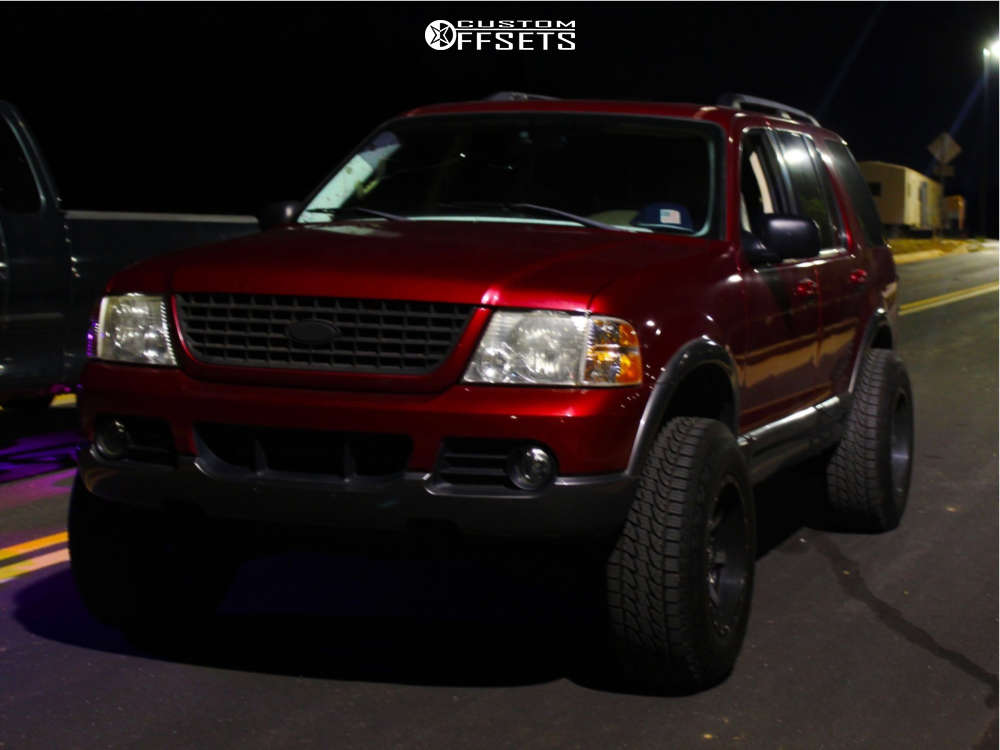 """2003 Ford Explorer Super Aggressive 3""""-5"""" on 17x10 -12 offset Fuel Maverick D537 and 265/70 Leao Lion Sport on Suspension Lift 3"""" - Custom Offsets Gallery"""