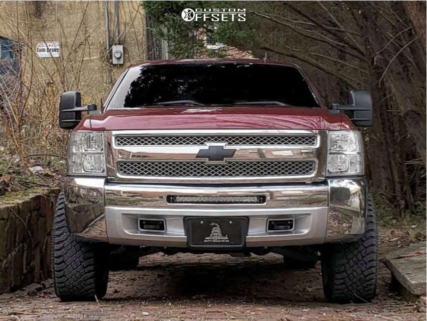 "2013 Chevrolet Silverado 1500 Super Aggressive 3""-5"" on 20x12 -44 offset XD Grenade & 33""x12.5"" Atturo Trail Blade Xt on Leveling Kit - Custom Offsets Gallery"