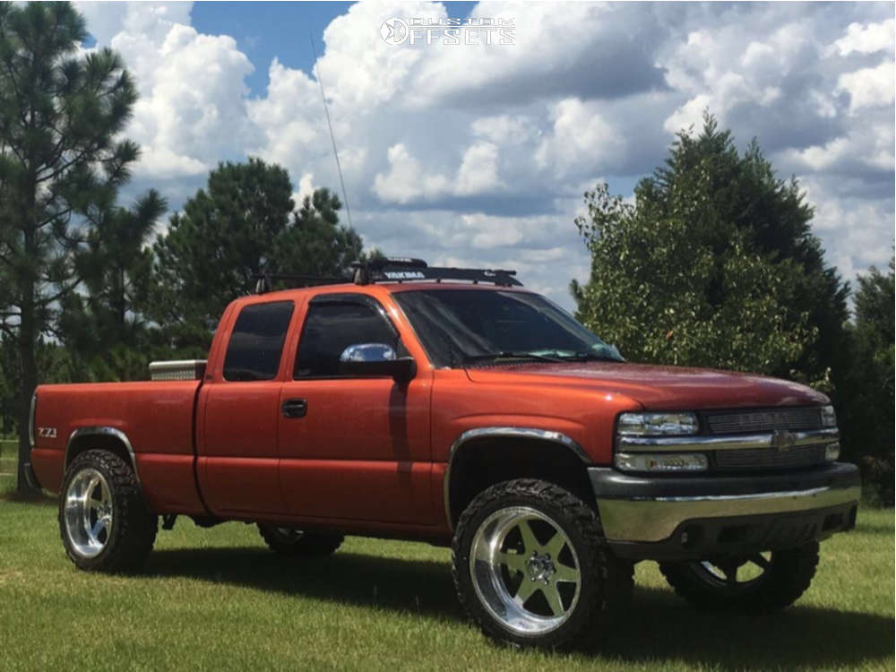 """2001 Chevrolet Silverado 1500 Slightly Aggressive on 22x12 -40 offset American Force Independence Ss & 35""""x12.5"""" Gladiator Xcomp Mt on Leveling Kit - Custom Offsets Gallery"""