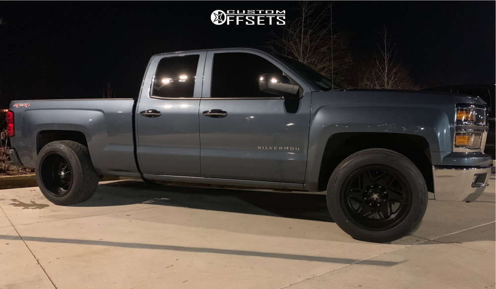 """2014 Chevrolet Silverado 1500 Super Aggressive 3""""-5"""" on 20x12 -44 offset Luxxx Hd Lhd2 & 305/50 Nitto Nt420s on Level 2"""" Drop Rear - Custom Offsets Gallery"""