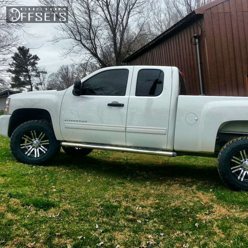 """2011 Chevrolet Silverado 1500 Aggressive > 1"""" outside fender on 17x9 -11 offset American Eagle 1197 & 285/70 Cooper M/T on Leveling Kit - Custom Offsets Gallery"""