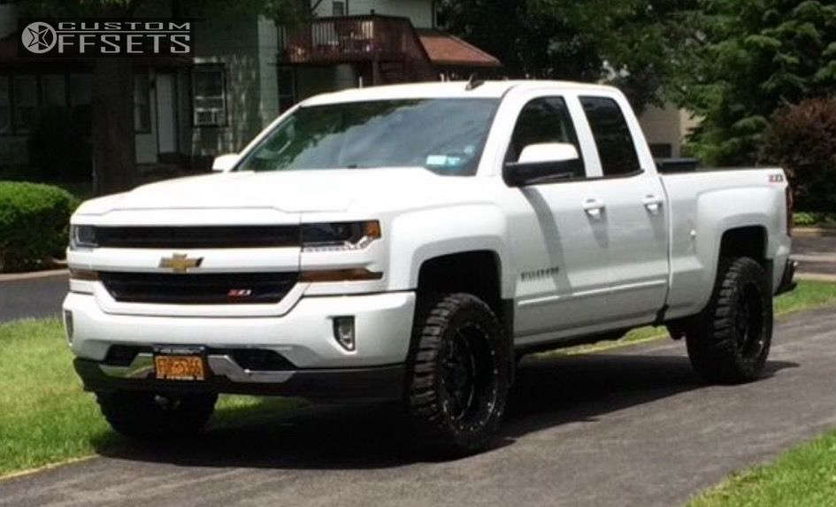"""2016 Chevrolet Silverado 1500 Super Aggressive 3""""-5"""" on 20x10 -19 offset Gear Off-Road Big Block and 33""""x12.5"""" Federal Couragia MT on Leveling Kit - Custom Offsets Gallery"""