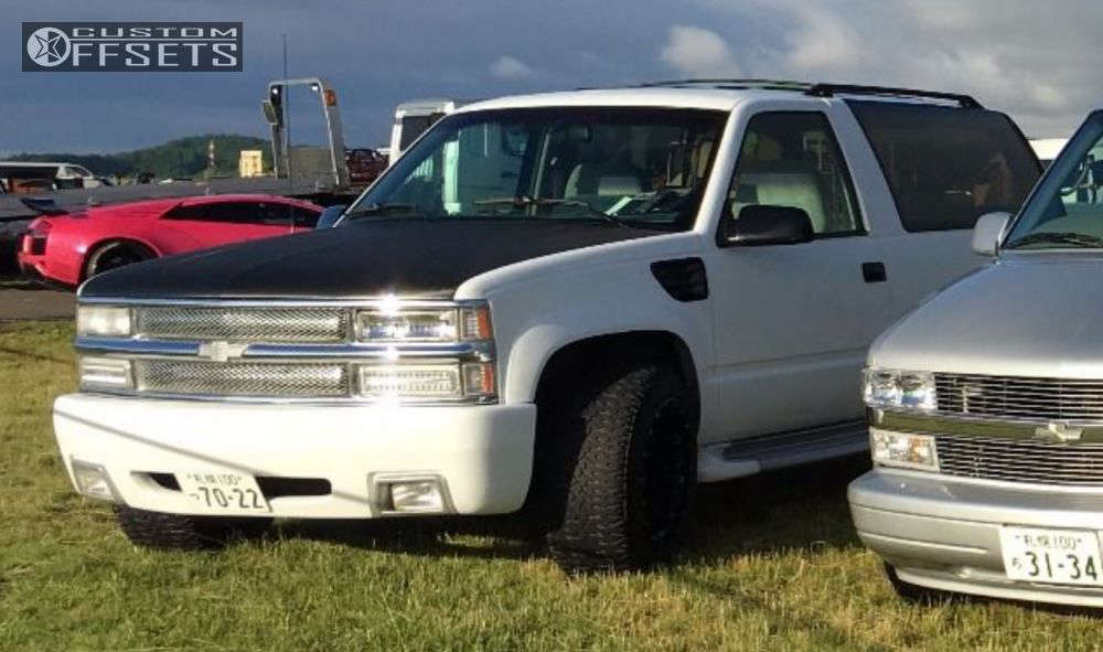 "1992 Chevrolet Blazer Super Aggressive 3""-5"" on 20x12 -44 offset Center Line LT1 & 285/50 Nitto Dune Grappler on Lowered 2F / 4R - Custom Offsets Gallery"