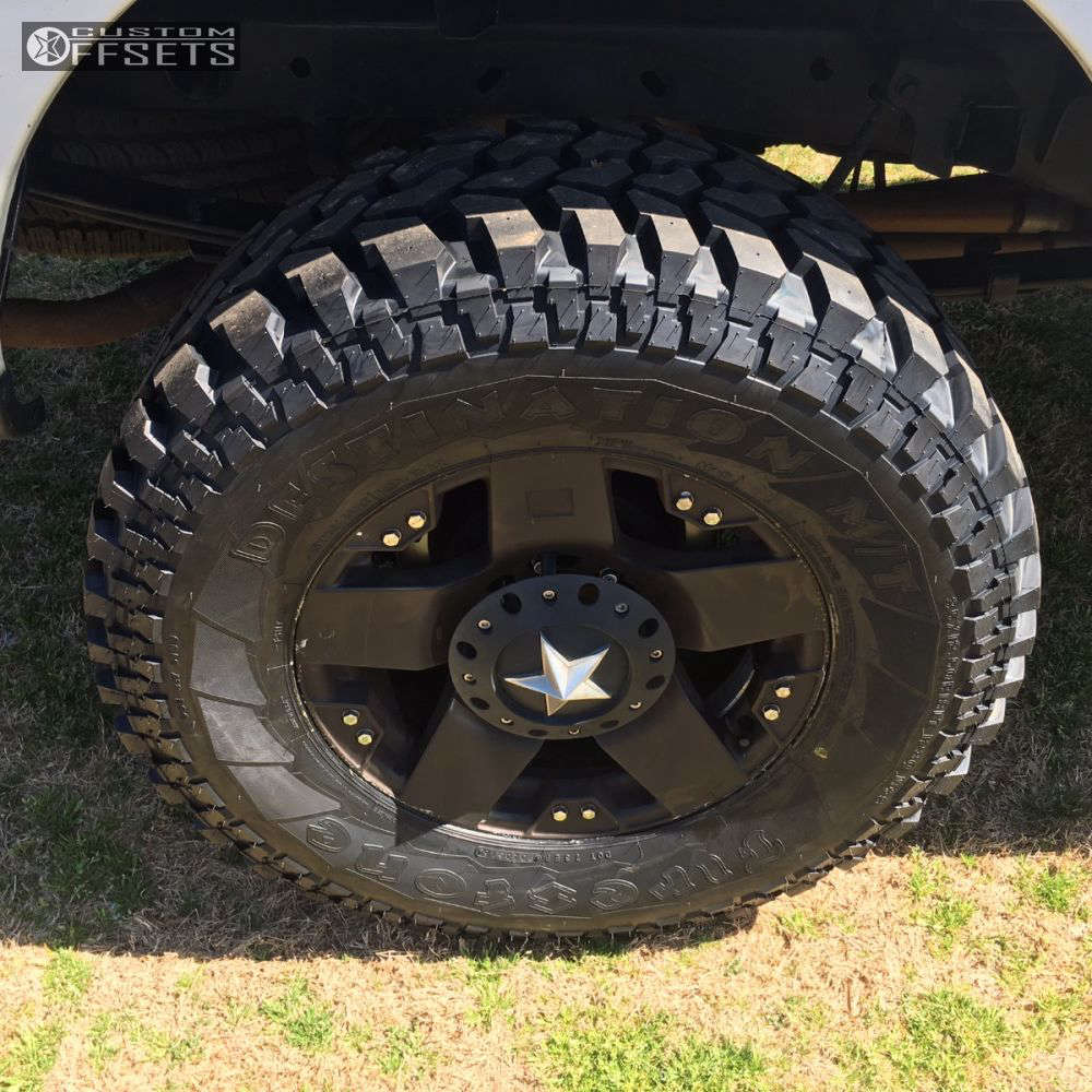 """2007 Ford F-150 Aggressive > 1"""" outside fender on 18x9 0 offset Xd Xd775 & 35""""x12.5"""" Firestone Destination Mt on Suspension Lift 6"""" - Custom Offsets Gallery"""