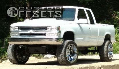 """1994 Chevrolet K1500 Aggressive > 1"""" outside fender on 22x12 -44 offset Gear Off-Road Big Block & 33""""x12.5"""" Toyo Tires Open Country M/T on Suspension Lift 6"""" - Custom Offsets Gallery"""