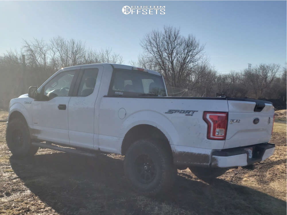 """2015 Ford F-150 Aggressive > 1"""" outside fender on 17x9 0 offset Mickey Thompson Deegan 38 Pro 2 & 35""""x12.5"""" Nitto Terra Grappler G2 on Suspension Lift 3.5"""" - Custom Offsets Gallery"""