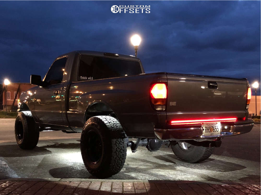 """1999 Mazda B2500 Aggressive > 1"""" outside fender on 15x10 -25 offset Black Rock 997 and 31""""x10.5"""" Falken Wildpeak At3w on Suspension Lift 4"""" - Custom Offsets Gallery"""