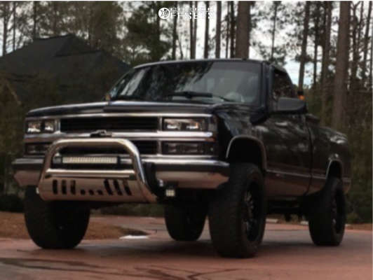 """1994 Chevrolet C1500 Aggressive > 1"""" outside fender on 20x9 -12 offset Panther Offroad 580 and 275/55 Atturo Trail Blade Xt on Suspension Lift 4"""" - Custom Offsets Gallery"""