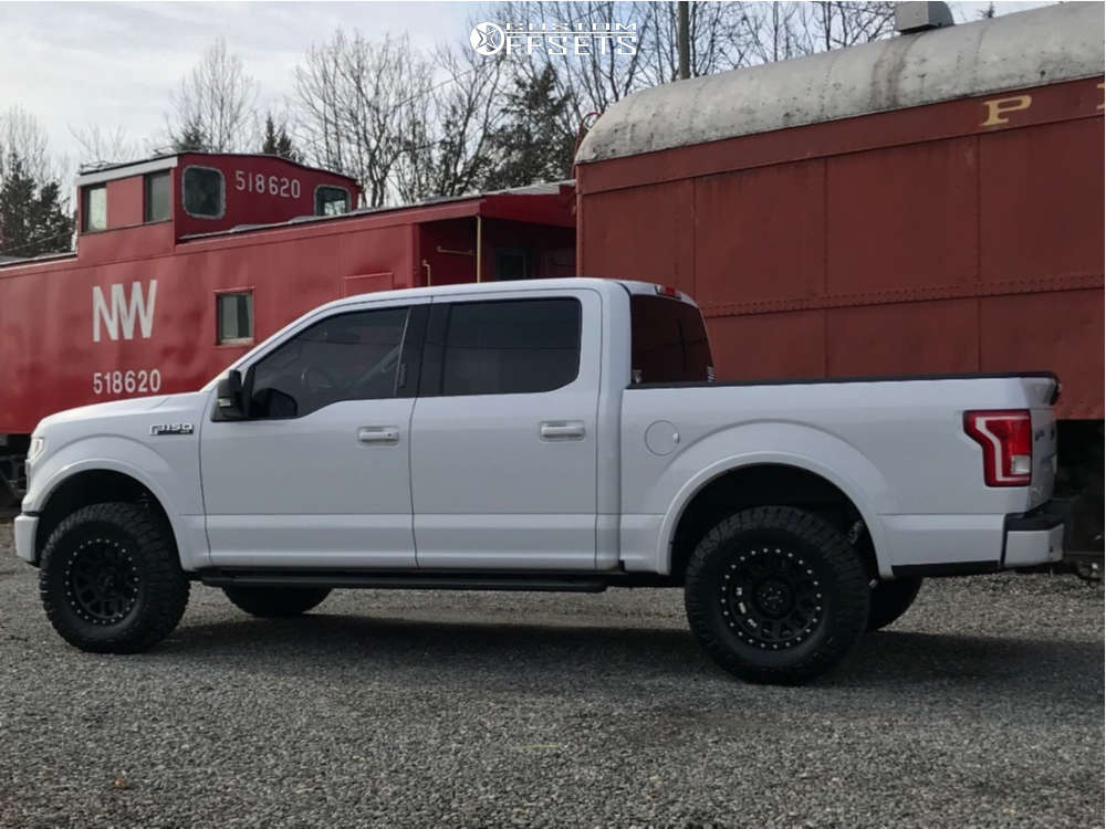 2016 Ford F-150 Slightly Aggressive on 17x8.5 0 offset Method Mesh and 295/70 Nitto Ridge Grappler on Leveling Kit - Custom Offsets Gallery