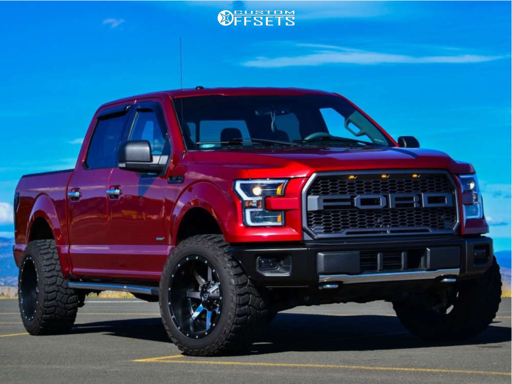 "2015 Ford F-150 Super Aggressive 3""-5"" on 20x12 -44 offset Fuel Maverick D537 & 305/55 Cooper Discoverer Stt Pro on Leveling Kit - Custom Offsets Gallery"