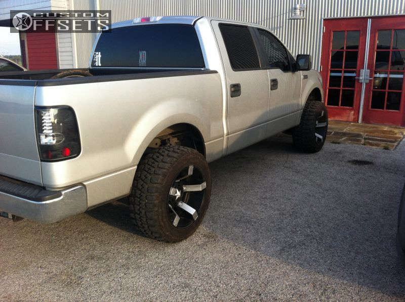 """2008 Ford F-150 Super Aggressive 3""""-5"""" on 20x12 -44 offset XD Rockstar II & 33""""x12.5"""" Federal Couragia MT on Leveling Kit - Custom Offsets Gallery"""