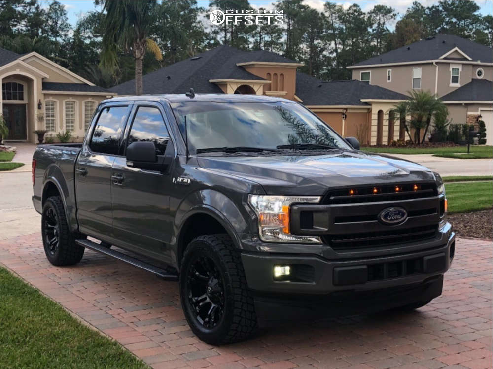 2018 Ford F-150 Slightly Aggressive on 20x9 1 offset Fuel Vapor and 285/55 Nitto Terra Grappler G2 on Leveling Kit - Custom Offsets Gallery
