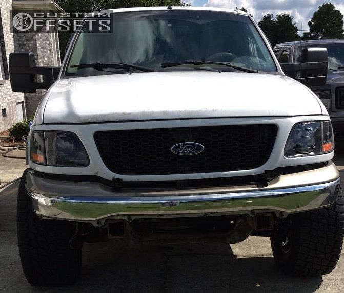 2001 Ford F-150  on 18x10 -12 offset Fuel Trophy and 325/60 Nitto Terra Grappler G2 on Leveling Kit - Custom Offsets Gallery