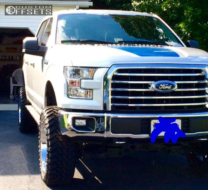 """2015 Ford F-150 Super Aggressive 3""""-5"""" on 22x10 -24 offset Moto Metal MO976 and 35""""x12.5"""" Atturo Trail Blade MT on Suspension Lift 6"""" - Custom Offsets Gallery"""