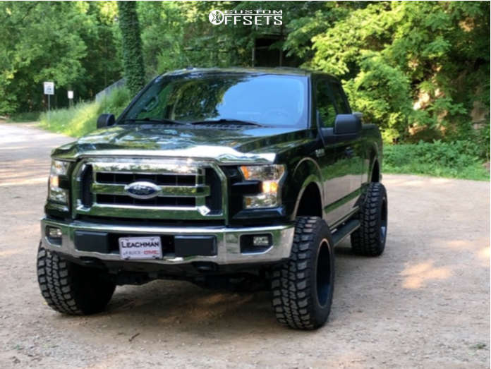 """2015 Ford F-150 Super Aggressive 3""""-5"""" on 20x12 -44 offset Hardrock Gunner H705 & 35""""x12.5"""" Federal Couragia MT on Suspension Lift 6"""" - Custom Offsets Gallery"""