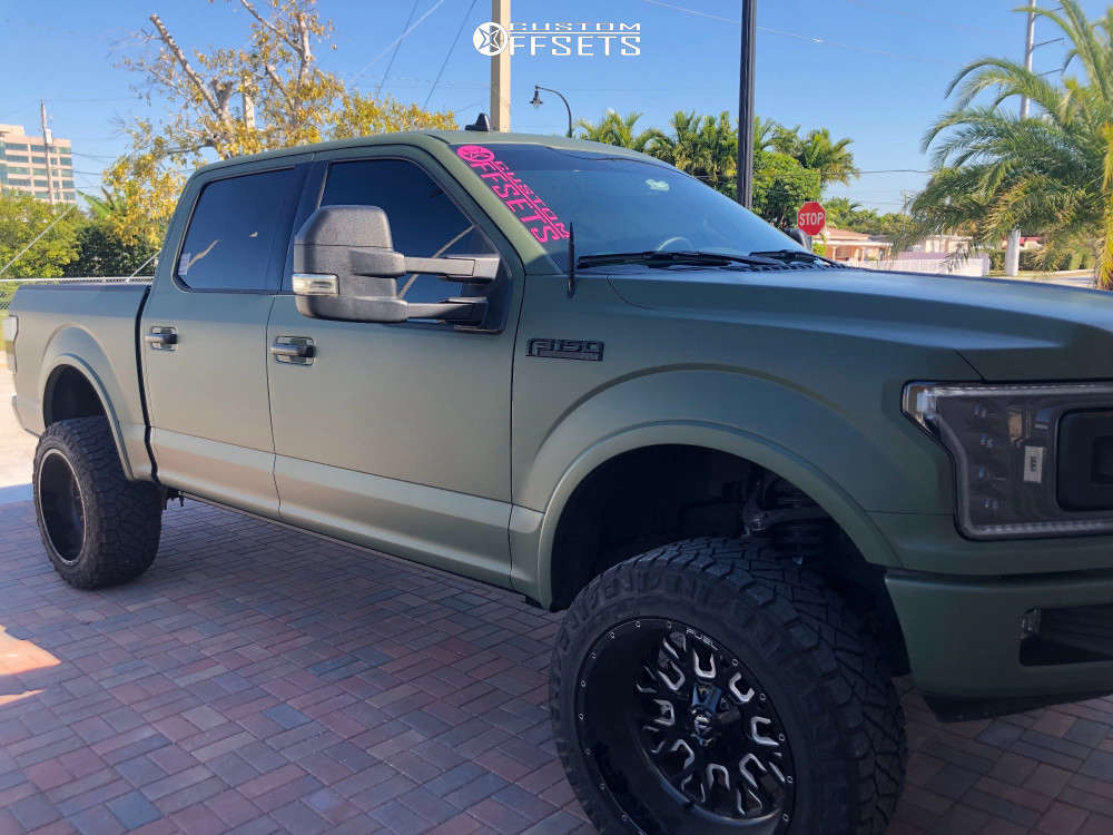 "2018 Ford F-150 Super Aggressive 3""-5"" on 22x12 -44 offset Fuel Stroke and 35""x12.5"" Nitto Ridge Grappler on Suspension Lift 5"" - Custom Offsets Gallery"
