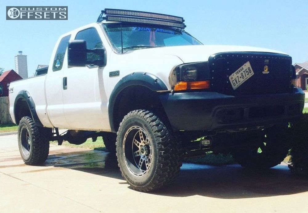 """2001 Ford F-250 Super Duty HellaFlush on 20x10 -24 offset XD Diesel and 35""""x12.5"""" Toyo Tires Trail Grappler on Suspension Lift 8"""" - Custom Offsets Gallery"""
