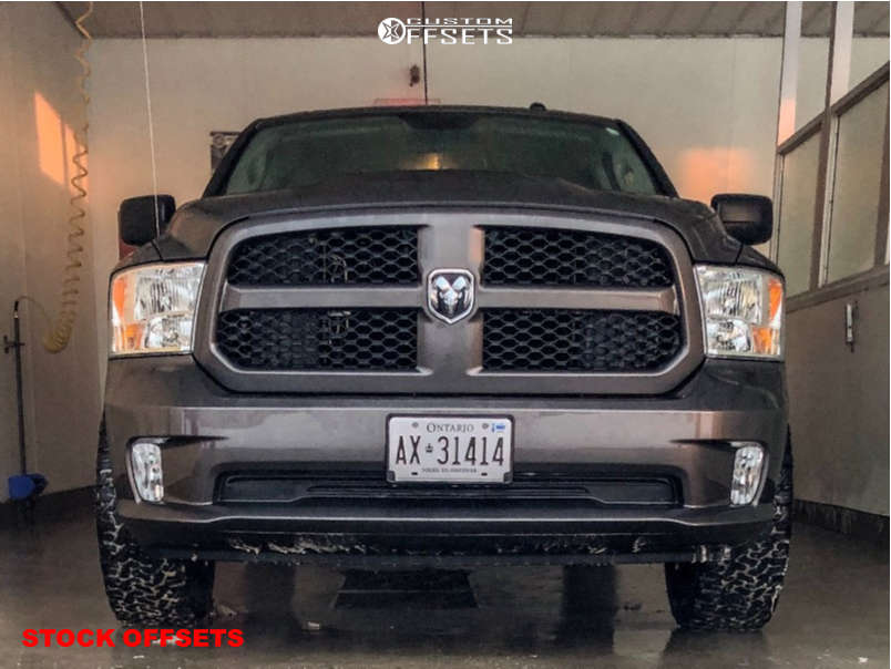 """2018 Ram 1500 Aggressive > 1"""" outside fender on 20x9 18 offset Spaced Out Stockers Spaced Out Stockers and 275/60 BFGoodrich All Terrain Ta Ko2 on Stock Suspension - Custom Offsets Gallery"""
